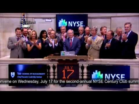 J&J CFO Dominic Caruso Ringing the Closing Bell at the NYSE