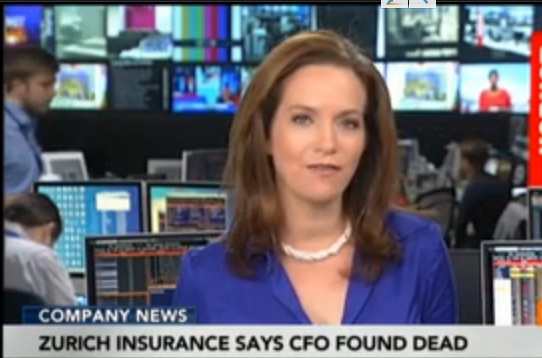 Zurich Insurance Says CFO Found Dead