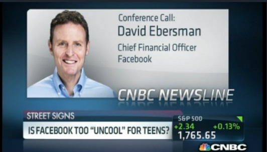 Facebook CFO: Daily user decrease among younger teens