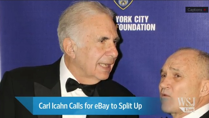 It's Icahn vs. eBay Over PayPal Spinoff