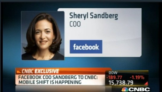 Facebook products working: Sandberg