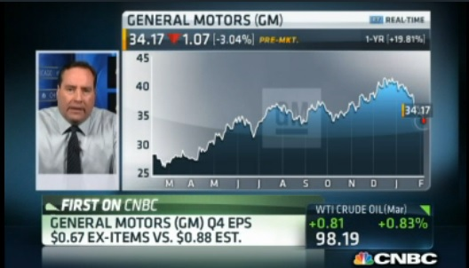 GM's CFO : Restructuring costs caused earnings miss