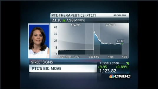 Big move for PTC Therapeutics