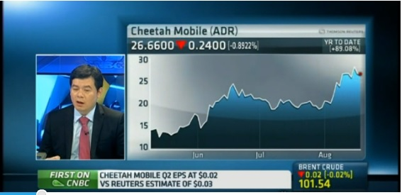 Cheetah Mobile: Pleased with profits, products