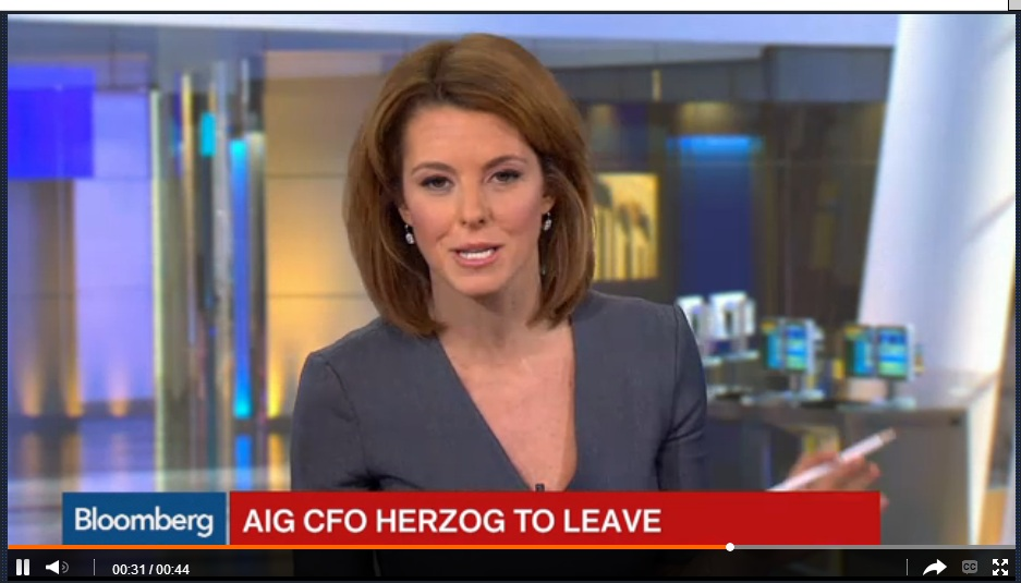 AIG CFO David Herzog Leaving Company