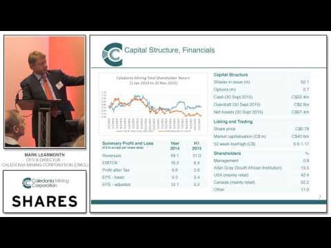 Mark Learmonth, CFO & Director – Caledonia Mining Corporation (CMCL)