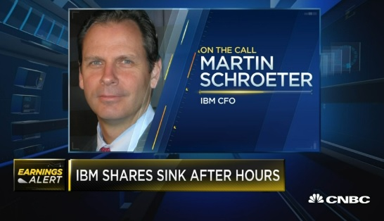 IBM beats, stock falls