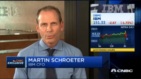 Another good quarter for IBM in cloud computing: IBM's CFO Martin Schroeter