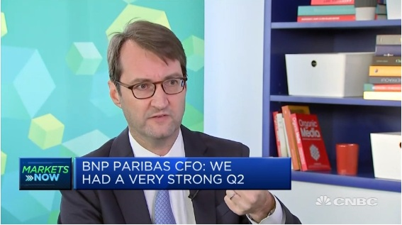 BNP Paribas CFO: We had a very strong second quarter