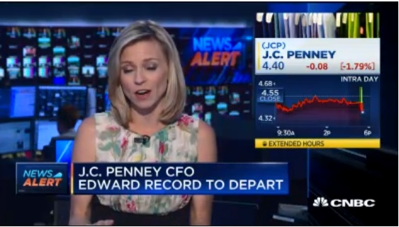 J.C. Penney CFO Edward Record to depart