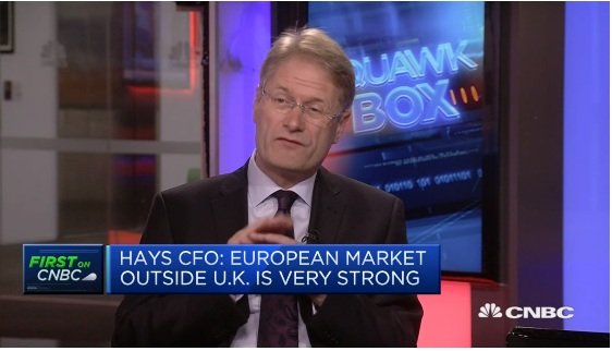 Not seeing a lot of long-term investment projects in UK, says Hays CFO