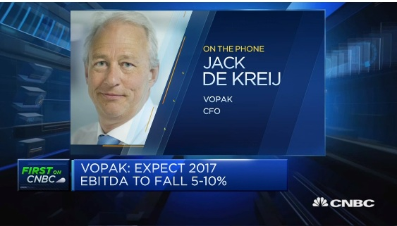 Vopak CFO: Expect 2017 occupancy at 90%