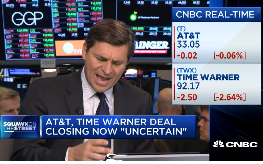 AT&T CFO says timing of Time Warner deal closing 'now uncertain'