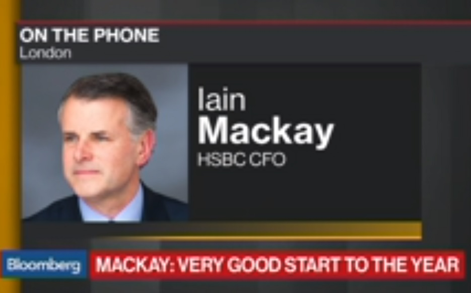 HSBC CFO Mackay Sees Very Good Start to the Year