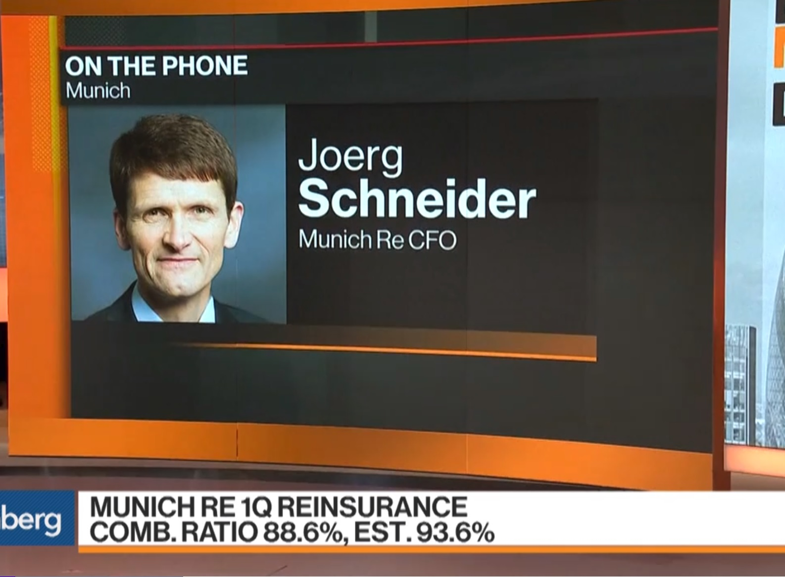 Munich Re's CFO on 1Q Earnings, Euro, Anchor Investors