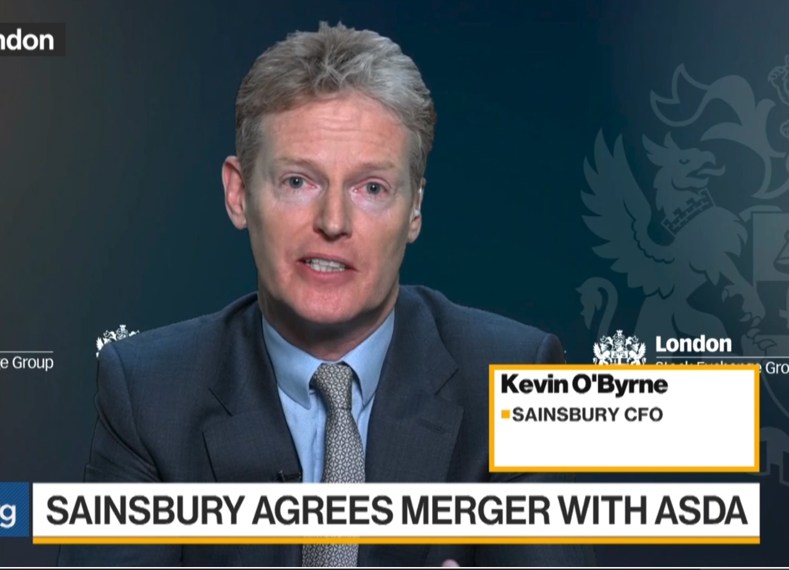 Sainsbury CFO Says Asda Deal `Very Focused' on Competing With Amazon