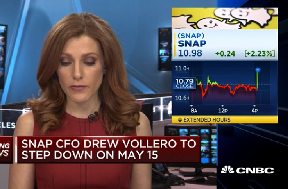 Snap CFO to step down