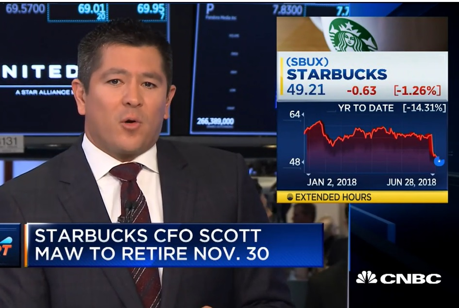 Starbucks CFO Scott Maw to retire November 30th