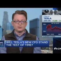Tesla shares rise as company appoints new CFO