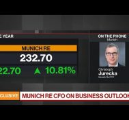 Munich Re 'Very Cautious' on Covid Fallout: CFO Jurecka
