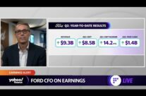 Ford CFO discusses earnings, demand for cars, chip shortage, and EV vehicles