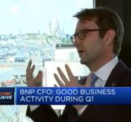 Good business activity during first quarter, says BNP Paribas CFO