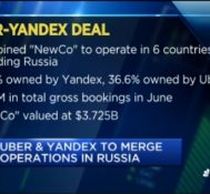 Uber to join with Russia's Yandex to form new ride-hailing company