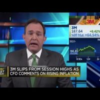 3M CFO comments on rising inflation, sending stock lower